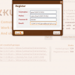 User registration [version 0.1.0]